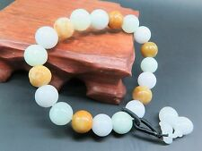 Fine 100% Natural Grade A Jade Bracelet Three Color Beads Lucky For Girl 10mm