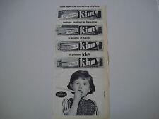 advertising Pubblicità 1962 GRISSINI KIM COMBATTENTI