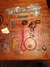 Great Costume Jewelry Lot Some Vintage Necklace Bracelet Earrings Hugo Parklane