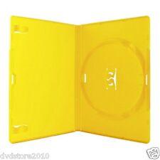 50 CUSTODIE SINGOLE GIALLA DVD 14 MM per CD DVD -R per verbatim AMARAY AMA02316K