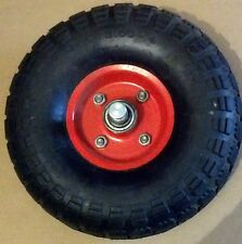 """PAIR (2) SOLID RUBBER WHEEL TIRE NO FLAT 4.10 / 3.50 - 4.00 3/4"""" BEARING"""