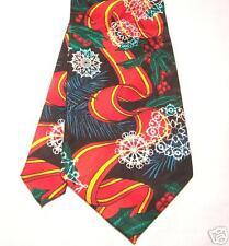 Rush Limbaugh Silk Tie Neck Tie w/chain Xmas Snowflake