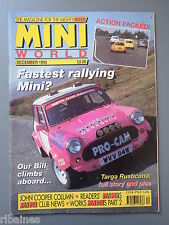 Mini World Magazine December 1993, Targa Rusticana/Works Minis PT2