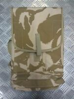 Genuine British Army Gas Mask Bag Desert Camo Field Pack/Respirator Case Molle 1