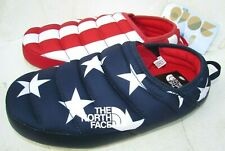 The North Face Slippers Mules size 6.5, 7 Red white blue black July USA Flag NEW