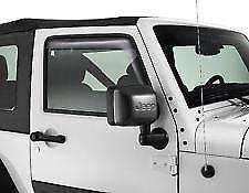 Genuine Jeep Wrangler Tinted Front Vent deflectors Trim P/N k82212716
