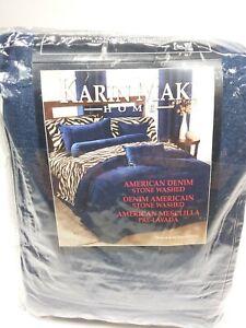 Karin Maki Home NEW Bedskirt California King size American Denim Stonewashed