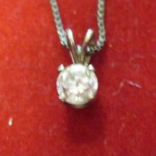 Sterling Silver Glass Pendant With A 19 Inch Chain