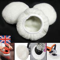 """12PACK Polishing Bonnet Buffer Pads Soft Wool For 5"""" & 6"""" Car Wheel Polisher UK"""