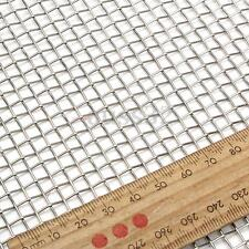 5 Mesh 304 Stainless Steel Square Sliver Wire Cloth Screen Filter  15x30cm/6x12