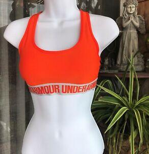 Under Armour Womens UA Crossback Mid Sports Bras 1310665 856 Orange NWT