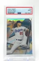 Dustin May 2020 Topps Finest Refractor Rookie #76 RC PSA 9 Mint Dodgers