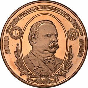 4x1 oz fine copper coins POTUS CURRENCY SET $1000/$500/$100/$2 bright mint fresh