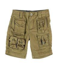Sean John Boys Flight Casual Cargo Shorts Khaki Tan Size 16 NWT