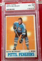 1970 TOPPS HOCKEY KEITH McCREARY #93 PENGUINS PSA 8 NM-MT