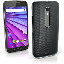 Clear PC Hard Case Cover Shell for Motorola Moto X Play XT1562 + Screen Prot