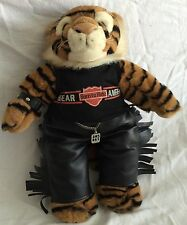 PAWSENCLAWS BIKER TIGER LEATHER FRINGE PANTS BEAR ANGELS BORN TO RIDE GROWLS