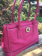 Coach Hampton Leather F13675 Satchel Pink