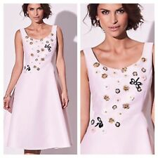Kaliko @ Kaleidoscope Size 12 Pink Embellished DRESS Midi Occasion Wedding £170