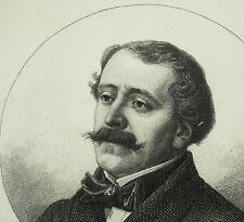 Portrait de Paul-Jacques-Raymond Binsse de Saint-Victor XIXe C Chardon