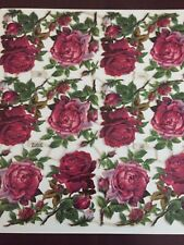 Vintage German PZB die cut Roses Paper Scrapbook Sheet Embossed 31912 Beautiful