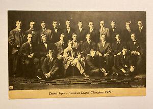 Vintage 1909 American League Champions Detroit Tigers Ty Cobb 1974 Post Card