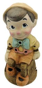"Old VTG Rare Walt Disney Pinocchio Table Lamp Night Light 10"" Collectible Figure"