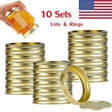 10 Sets Wide Mouth Canning Jar Lids And Rings Mason Jars Lids Leak Proof 86mm