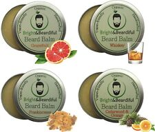 Beard Balm Set (Pack 4) Leave in Styling Deep Conditioner for Softer Facial Hair