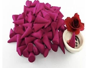 Rose Incense Cone Rose of Fragrance Relax Aromatherapy Spa (Pack of 100 Cones)