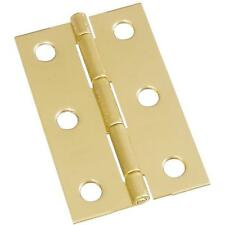 "25-Solid Brass 1 9/16"" W X 2 1/2"" H Small Chest Jewelry Box Hinge 2/Pk N211318"