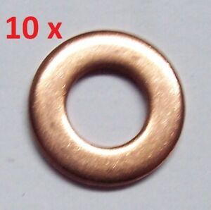 10 Stück Dichtring 9001-850E für FORD 1.8 TDCI Turbo Di TDDi Injektor 1,6 mm
