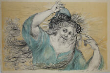 Lucien Philippe MORETTI- Lithographie signée-Le braconnier de Dieu, planche 9