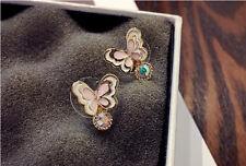 Butterfly Ear Stud Earrings Jewelry 1 Pair Alloy Fashion Women Rhinestone