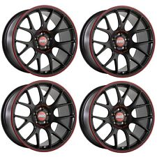 4 x BBS CH-R Nurburgring Satin Black Alloy Wheels - 5x112|20x9"