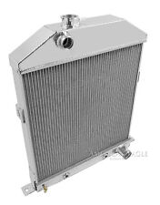 """1942-1948 Mercury Coupe 29A w/Chevy conversion Radiator & 16"""" Fan,2 Row 1"""" Tubes"""