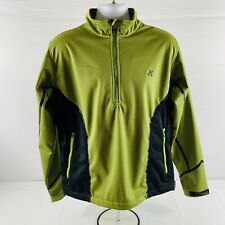 Sunice 1/4 Zip Green Long Sleeve Stretch Pullover Men's M