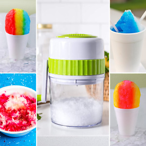 Rubywoo Hand Crank Ice Crusher Portable Manual Ice Crusher Shaver Shredding Machine Hand Snow Cone Transparent Ice Machine New