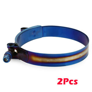 """2 x 301 90mm - 98mm Stainless Steel T-Bolt Clamp For 3.54"""" - 3.85"""" Silicone Hose"""