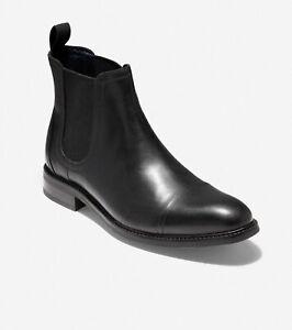 Cole Haan Men Chelsea Boots Conway Black Waterproof Leather C31367