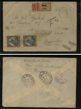 Hungary ,Szin registered cover to Us Ms0421