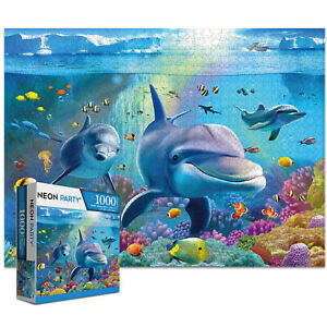 1000 Pieces Jigsaw Puzzles for Adults Kids-SeaWorld Education Learning Tools Toy