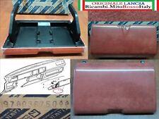 PLANCIA SPORTELLO CASSETTO RADIO ALCANTARA ROSSO LANCIA Y10 DOOR RADIO DASHBOARD
