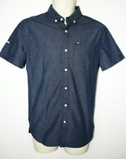 cOOL Vintage Superdry Polka Dot Shirt Small Dark Blue/ white spots