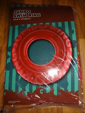 Jumbo Inflatable Tyre Red Swim Ring Beach Pool Garden Outdoor Fun Toys New