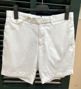 Men's Ralph Lauren White 100% Linen Shorts- 34 Waist RRP £110.00