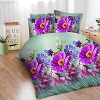 3D Complete Bedding Set Duvet Cover Fitted Sheet & 2 Pillowcases Super King.