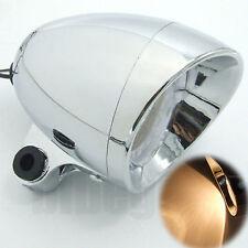 Motorcycle Chrome Universal Headlight Head Lamp For Yamaha Suzuki Kawasaki Honda