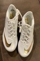 Nike Lunar Vapor Ultrafly Elite 2 Baseball Cleats White Gold Mens  7.5 New