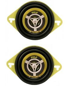 Sold in Pairs - 120 Watt 4 Ohm Audio Car Stereo 2 Way Speaker System 3.5 Inch